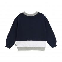 Navy Colorblock Sweatshirt