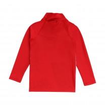 White and Red Graphic Baby Swimwear