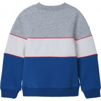 Colorblock Graphic Sweater