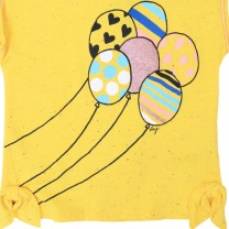 Yellow Balloons Print Sleeveless Top