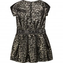 Gold Leopard Print Dress