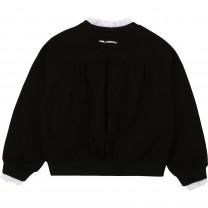 Black Ruffled Collar Sweater