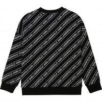 Black and White All Over Sweater