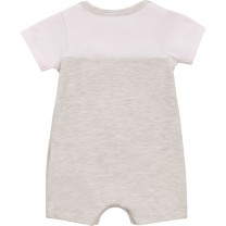 White Side Logo Babysuit