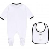 White Set Babysuit and Bib