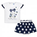 Navy Blue Polkadot Set