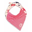 Red & Blue Stars and Red Gingham Reversible Bib