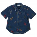 Stretch Denim Shirt Embroidered