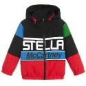 Black Racing Logo Puff Jacket