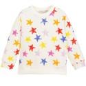 Ivory Multicolored Stars Cotton Sweatshirt