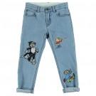 Blue Lohan Patch Jeans