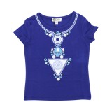 Blue Statement Necklace Top
