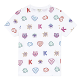 White Iconic Baby Print T-Shirt