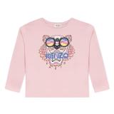 Pink Tiger Glasses Long Sleeve T-Shirt