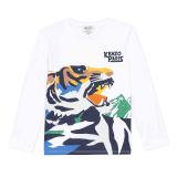 White Kenith Tiger Long Sleeve T-Shirt
