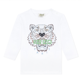 White Baby Tiger Long Sleeve T-Shirt