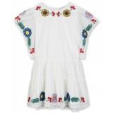 Flowers Embroidery Kimono Dress