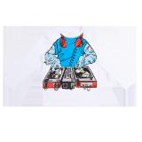 White Long Sleeve DJ T-Shirt