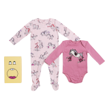 Pink Horse Print Babygrow Set