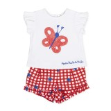 Red Gingham Butterfly Set