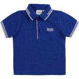 Navy Blue Cotton Baby Polo Shirt