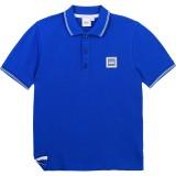 Blue Square Logo Polo Shirt