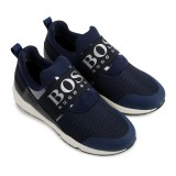 Navy Logo Slip On Trainers