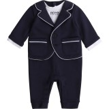 Navy Suit Romper