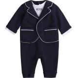 Navy Suit Romper