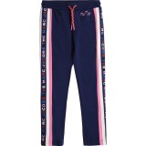 Navy and Pink Side Stripe Jogger