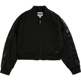 Black Logo Bomber Jacket (14 - 16 years)