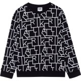 Black Karl Pattern Sweater