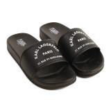 Black Logo Sandals