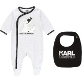 White Set Babysuit and Bib