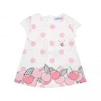 Pink Cherry Polka Dots Pattern Dress