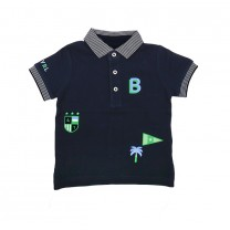 Navy Baby Boy Patch Polo Shirt