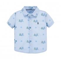 Short Sleeve Cheetah Print Shirt
