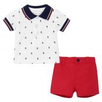 Baby Boy Red Shorts Set