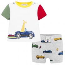 Colourful Baby Boy T-Shirt-Shorts Set