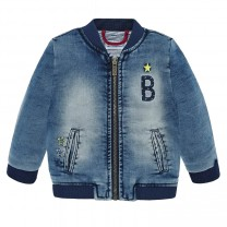 Soft Denim Bomber Jacket