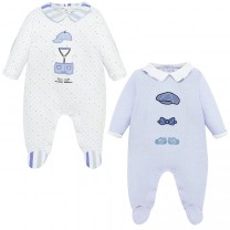 Patch and Embroidery Details Onesie Set