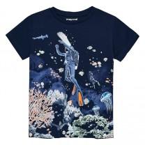 Navy Underwater Print T-Shirt