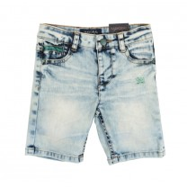Soft Blue Washed Denim Shorts