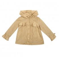 Latte Ruffled Windbreaker Jacket