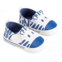 Baby Blue Zebra Shoes