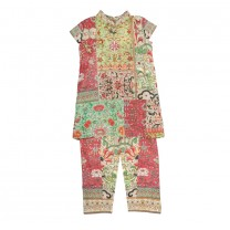 Chinese Patchwork Blouse Set