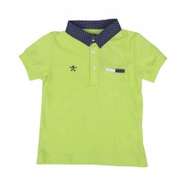 Green Dressy Short Sleeve Polo Shirt