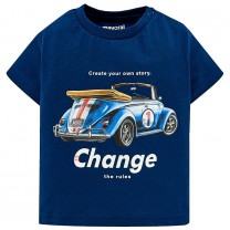 Navy Blue Vintage Car T-Shirt