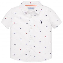 Short Sleeve Fishes Print Shirt