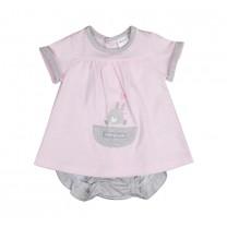 Soft Pink Rabbit Baby Set